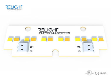 ประเทศจีน Dual Color Linear Dimmable LED Module 120 Degee Beam Zhaga Board 70x24mm 1W โรงงาน