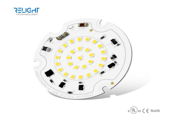 Dimmable Integrated Driverless 16W SMD2835 Round LED Module AC100V - 230V 50Hz / 60Hz ผู้ผลิต